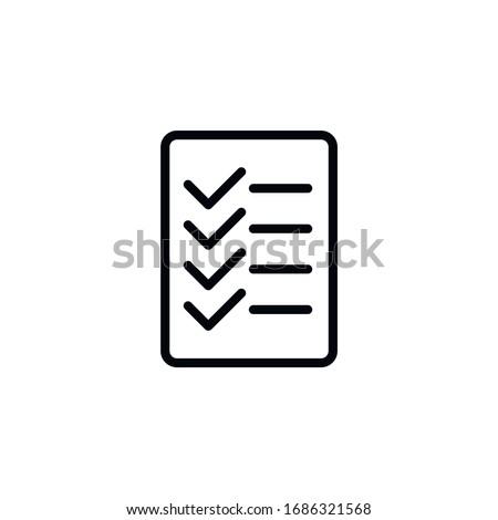 Rule line icon, creative symbol