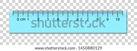Ruler centimeter cm scale. Vector with centimeters measurement