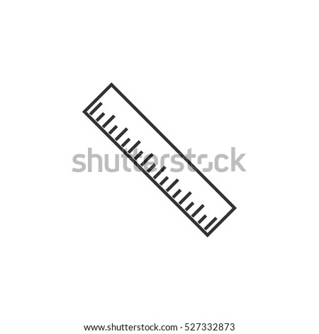 Ruler icon flat. Illustration isolated vector sign symbol