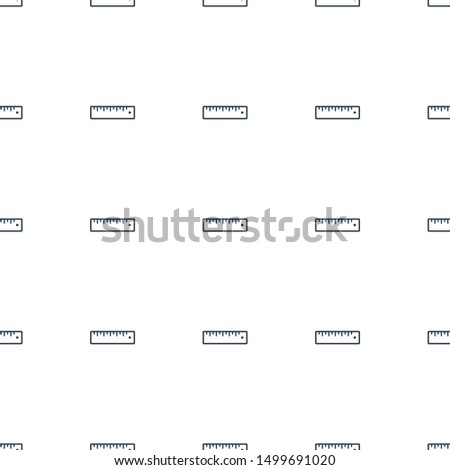 ruler icon pattern seamless white background. Editable outline ruler icon. ruler icon pattern for web and mobile.