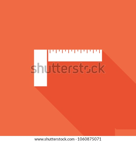 Ruler icon, stock vector, eps10.