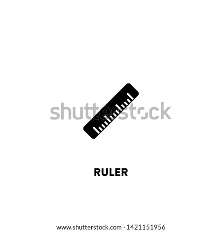 ruler icon vector. ruler sign on white background. ruler icon for web and app