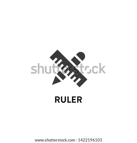 ruler icon vector. ruler vector graphic illustration