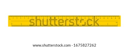 Ruler in flat style. Simple isolated flat vector illustration