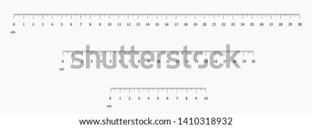 Ruler scale set vector illustration