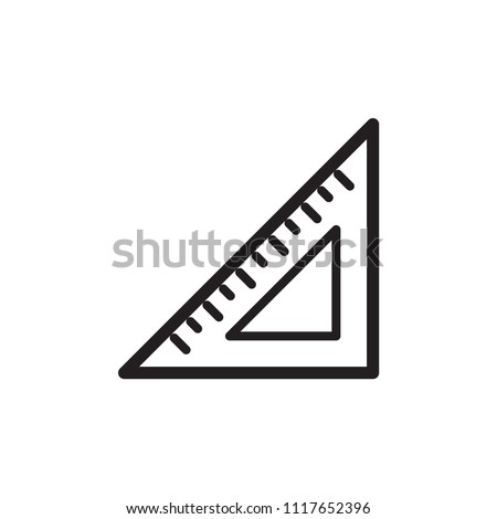 ruler vector icon logo template