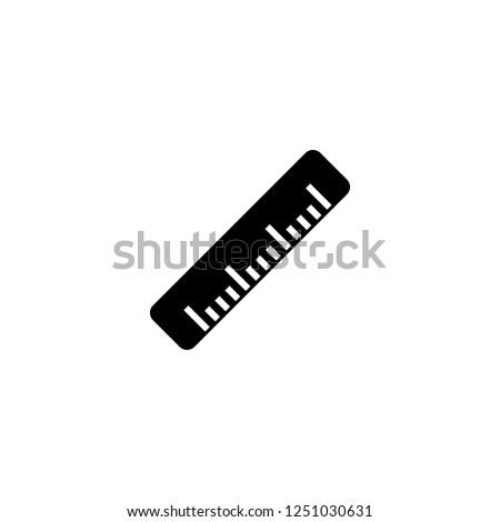 ruler vector icon. ruler sign on white background. ruler icon for web and app