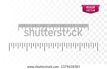 Rulers template, inches and centimeters. Vector illustration
