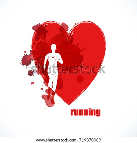 Run. Healthy lifestyle.Heart