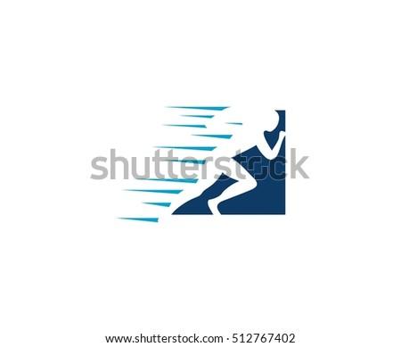 run man logo
