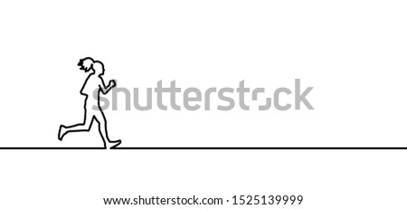 Run runner running sportswoman silhouette Marathon Line pattern vector icon icons sign signs fun fun funny Olympics Olympic gamer game 2020 Tokyo Japan Sport sports jogger fitness woman walk walking