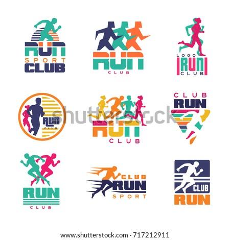 run sport club logo templates