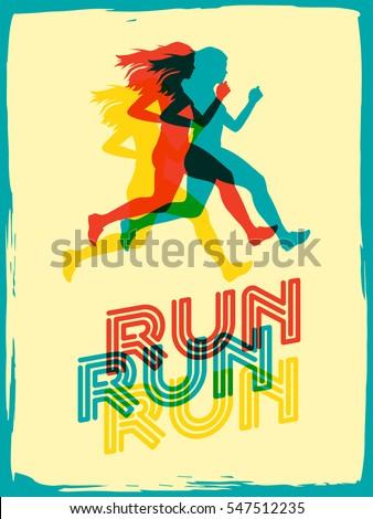 run sport motivation lettering