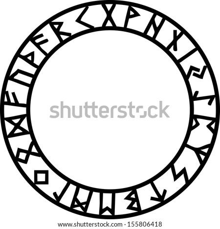 rune circle  futhark
