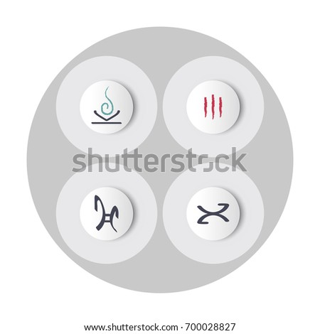 rune icons  on a convex button