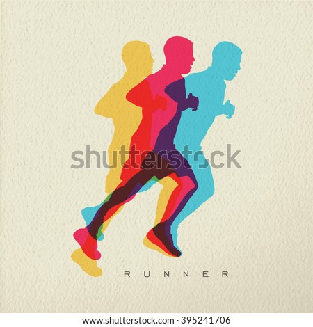 runner concept illustration of