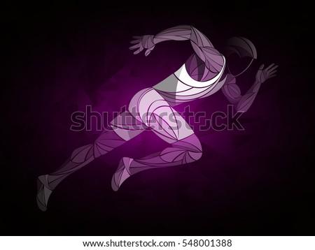runner  jogging  sprinter