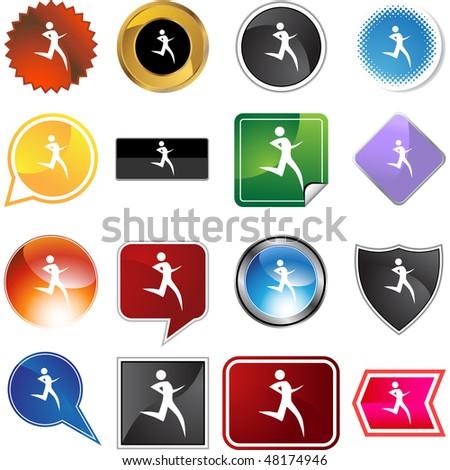 Clip Art Running Stick Figure. stock vector : Runner stick