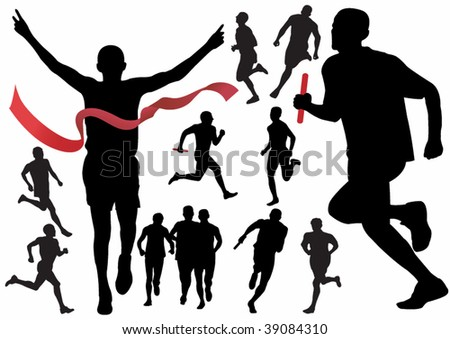 runner vector illustration for