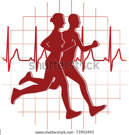 runners couple vector