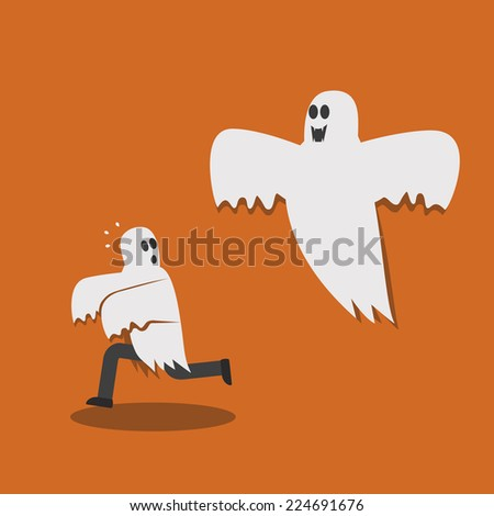 running away from ghost
