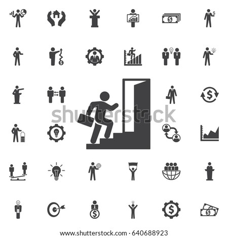 Running Businessman icon. Business icons set