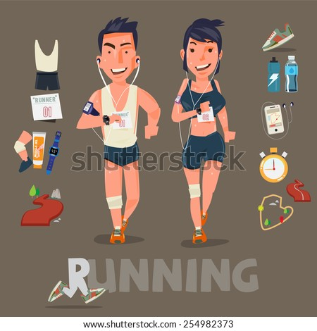 running character with kits