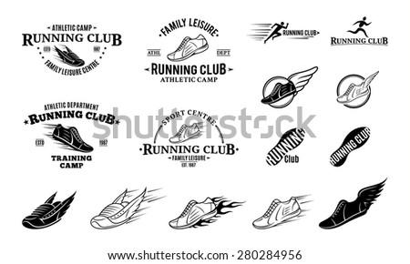 Running Logo Vector Running Club Logo Labels