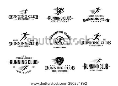 Run Club Logos Running Club Logo Labels Icons
