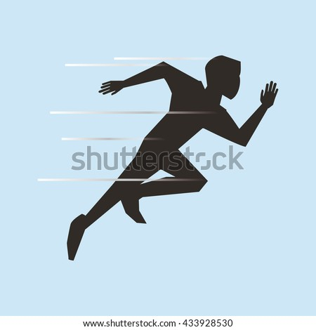 running design. sport icon. Isolated image #433928530