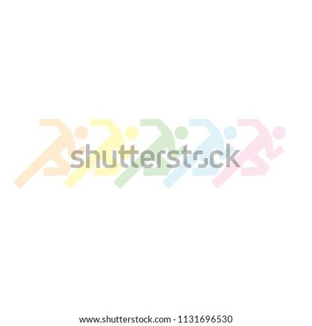 running group of people icon vector illustration - concept of health