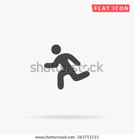 Running Icon Vector. Simple flat symbol. Perfect Black pictogram illustration on white background. stock photo