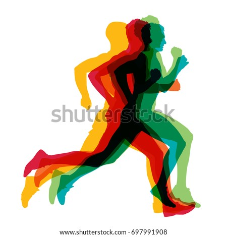 stock-vector-running-man-colorful-vector-silhouettes