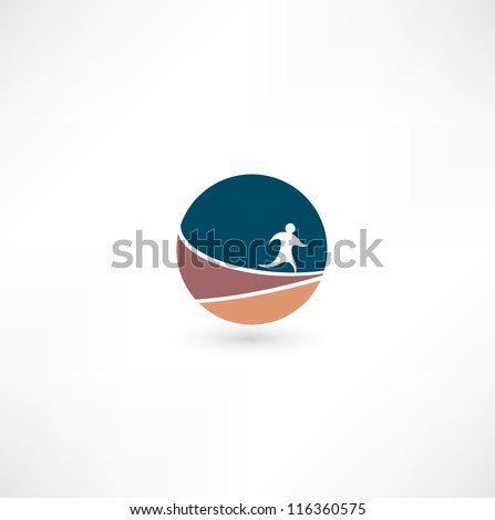 Running man icon - stock vector