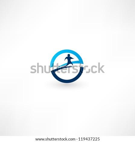 Running Logo Vector Running Man Icon Stock Vector