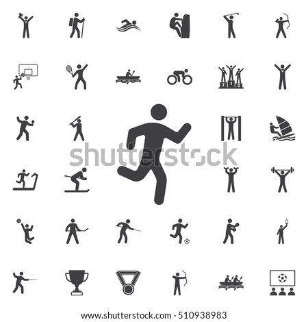 Running man icon on the white background. Sport icons universal set for web and mobile