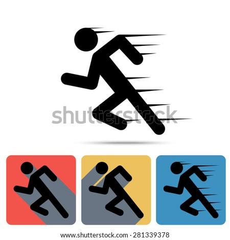 running man icon  sprinter