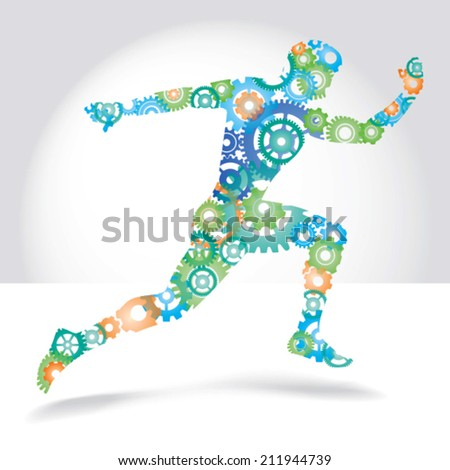 running man made color gears