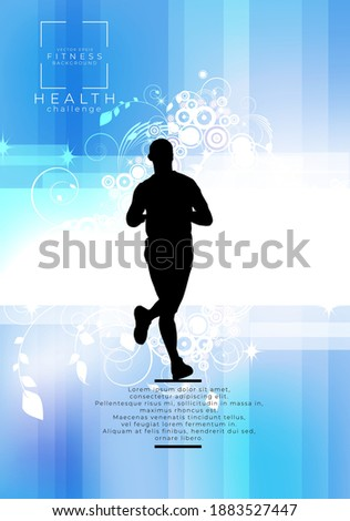 Running man. Sport background ready for poster or banner, vector. Photo stock ©