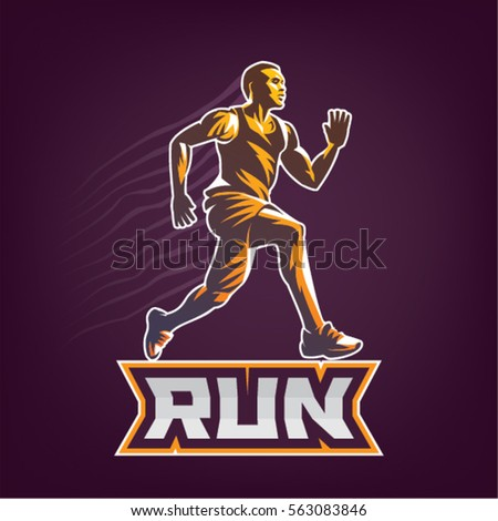 running man sport emblem on
