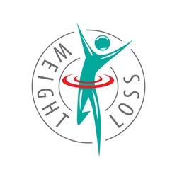 running man, weight loss vector logo
