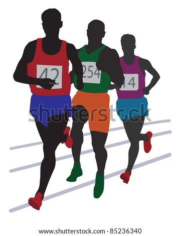 Running mans. Vector illustration