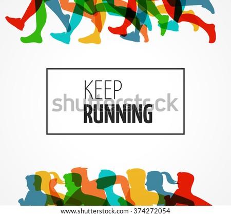 running marathon  people run