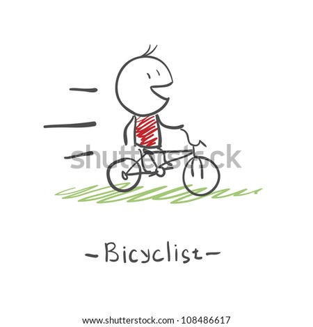 running on bicycle