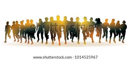 stock-vector-running-people-front-view-of-the-crowd-of-young-people-running-in-the-marathon