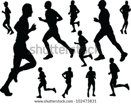 Running Logo Vector Running People Vector
