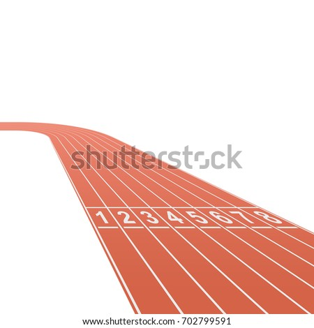 Running race track background with white copy space. Vector illustration. Challenge business concept.
