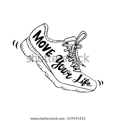 running shoe symbol   move your