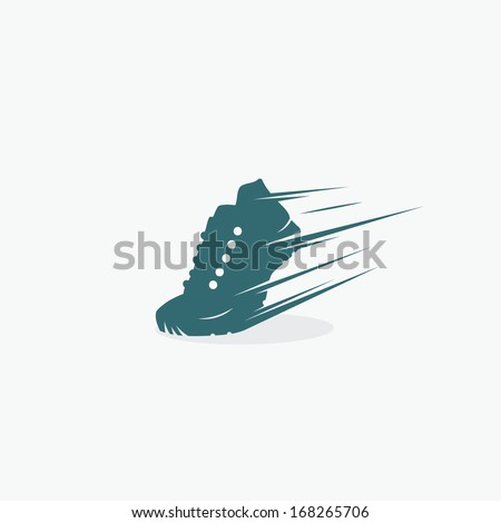 Running shoe symbol - vector illustration