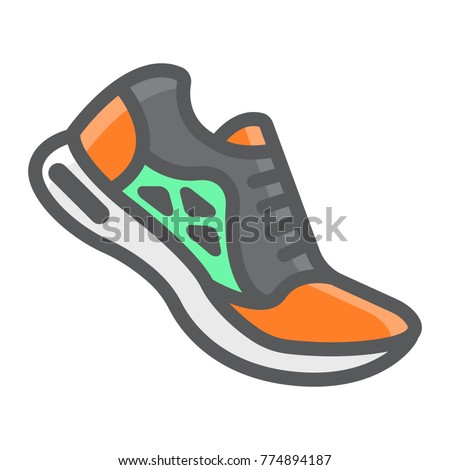 running shoes filled outline